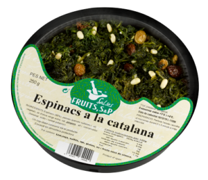 Packaging Espinacs a la Catalana Fruits