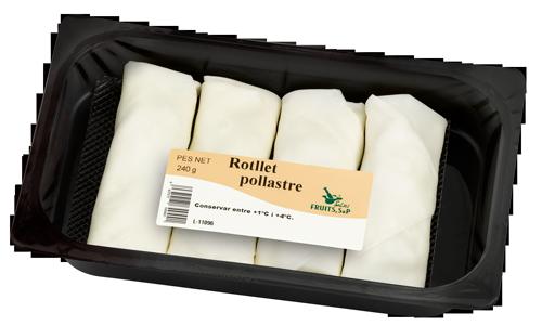 Packaging Rotllets Pollastre