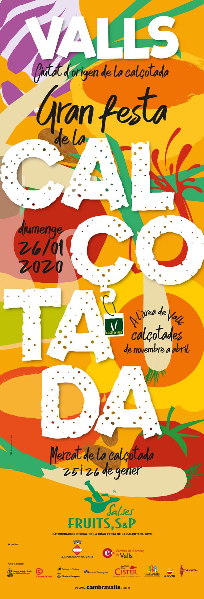Cartell de la Gran Festa de la Calçotada de Valls 2020