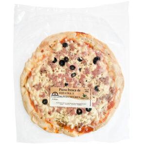 Pizza fresca tonyina porro i olives negres Salses Fruits SP