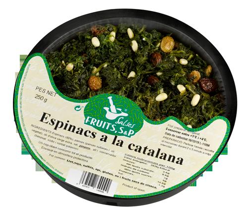 Packaging Espinacs a la Catalana Fruits