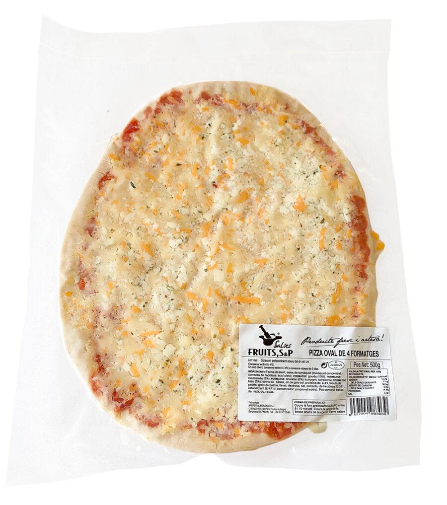 pizza 4 formatges salses fruits sp