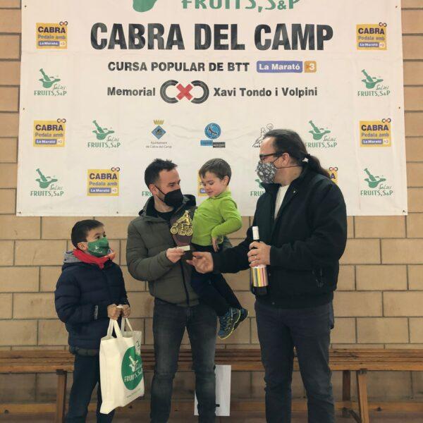 guanyadors pedala per la marato tv3 cabra del camp Salses Fruits SP